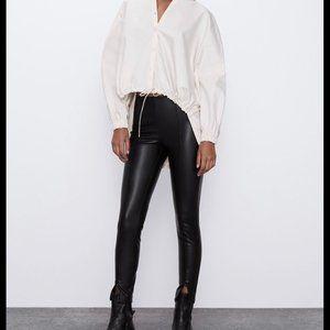 NWT Zara Faux Leather Leggings